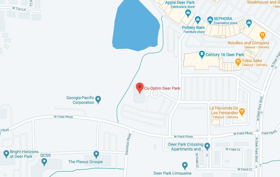 Map of Co-optim Deer Park
