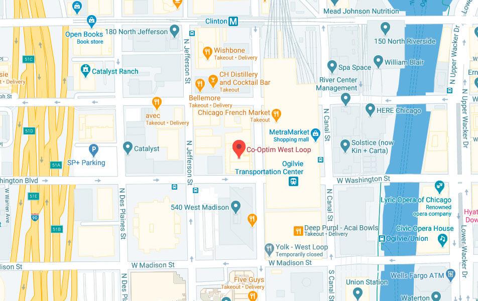Map of co-optim chicago